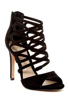 42bd22a46d Krisi Heeled Sandal by Vince Camuto on @HauteLook Burgundy Nails, Suede  Sandals, Vince