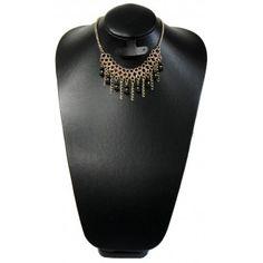 Collar de Moda con Perla, Caucho y Cadena de Aluminio