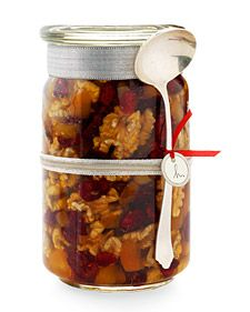 Walnuts, dried fruit, and raw, local honey...what a delicious topping for ANYTHING! Great gift idea!