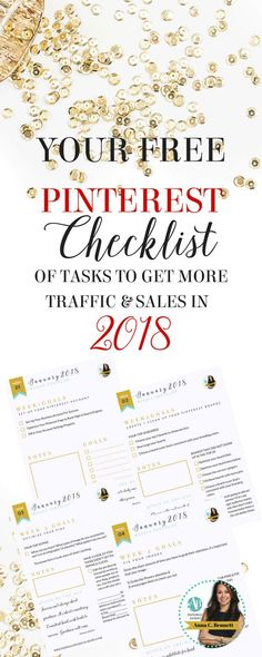 Pinterest Checklist to help get more traffic and sales in 2018