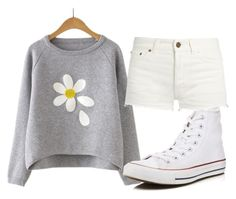 """""""summery outfit"""" by aaisha123 ❤ liked on Polyvore featuring Yves Saint Laurent and Converse"""