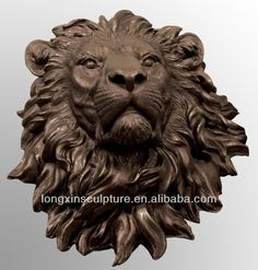 lion head statue - Google Search