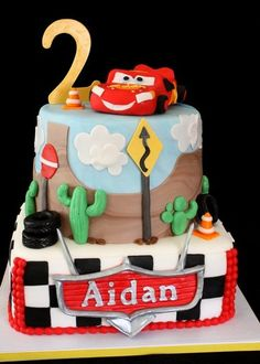 Cars Cake; I want this cake for jaces first birthday!