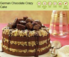Hubby loves german choc cake so def making this for him...German Chocolate Crazy Cake~~My Favorite German Dessert