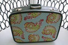 Decoupaged Fabric Suitcase