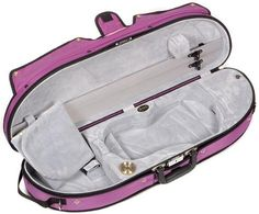 Bobelock Half Moon Puffy 1047P 44 Violin Case with Purple Exterior and Grey Interior >>> More info could be found at the image url.Note:It is affiliate link to Amazon.