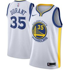 Nike Warriors  35 Kevin Durant White Stitched NBA Swingman Jersey  Basketball Trikots bbd66d4ad