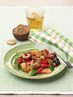 """Roasted Pepper Salad from the NEW, """"The Perfect Diabetes Comfort Food Collection,"""" by Robyn Webb"""