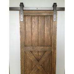 DIY barn door can be your best option when considering cheap materials for setting up a sliding barn door. DIY barn door requires a DIY barn door hardware and a Old Barn Doors, Barn Doors For Sale, Barn Style Doors, Wood Doors, Interior Barn Door Hardware, Sliding Barn Door Hardware, Sliding Doors, Bathroom Barn Door, Diy Barn Door