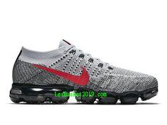 best loved 02d22 5d2b3 Nike WMNS Air VaporMax Flyknit Chaussures Officiel Running Prix Pas Cher  Pour Femme Gris Rouge 849558