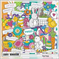 Laura Banasiak has an ADORABLE new Easter kit in her Scrap Orchard  shoppe! Hop on over and grab it at 20% off this week!