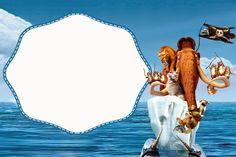Ice Age: Free Printable Invitations.