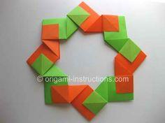 Origami Modular Wreath Folding Instructions - How to Make an Origami Modular Wreath