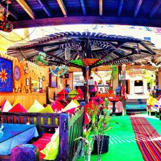 """""""Restaurants in #Dahab are so different from back home in the States! #egypt #travel #foodie"""""""