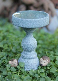 Miniature birdbath for fairy gardens bird bath by Beneaththeferns