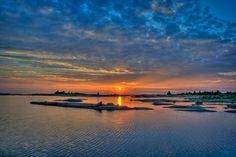 sunset, Georgian Bay