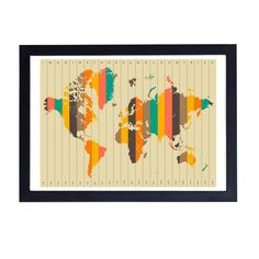 Buy the Imagine There's No Countries by Jazzberry Blue Wall Art at Oliver Bonas. Enjoy free UK standard delivery for orders over