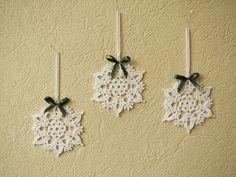 Fiocchi di neve all'uncinetto Natale decorazioni per