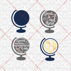 Adventure is out there Globe Monogram I haven't been everywhere but it's on my list SVG STUDIO Ai EPS instant Download Cricut Silhouette by CraftyLittleNodes on Etsy