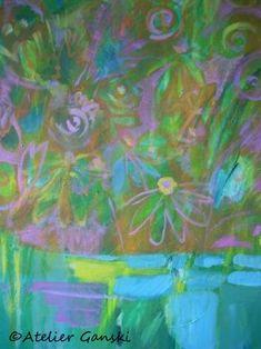 Atelier Ganski - handgemaltes Original, Acrylfarben, 40 x 50 cm Artworks, Painting, Atelier, Abstract, Kunst, Painting Art, Paintings, Painted Canvas, Drawings