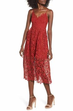 0ae0d33286d6 ASTR the Label Lace Midi Dress Lace Midi Dress, Dress Red, Date Night