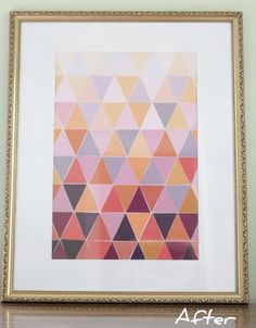 DIY: Ombre Paint Chip Art - maybe in gold, blue or navy