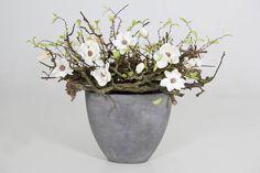 """Luxe decoratie stukken : Pot """"Naturel Withe"""" H.65 cm"""