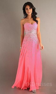 I like how the sparkles flow down the dress and its not drenched in glitter. Also is a cute color.