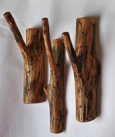 handmade coat rack • wall wood hooks • large birch woooden hooks
