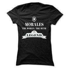 [Cool tshirt names] MORALES the woman the myth the legend Good Shirt design Hoodies, Funny Tee Shirts