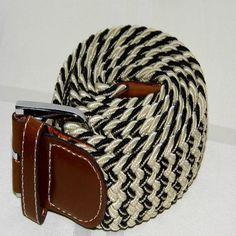 Cinturón Blanco con hilo negro