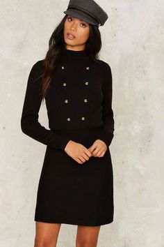 Button Our Way Mini Dress   Shop Clothes at Nasty Gal!