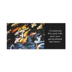 Koi Fish Rack Card