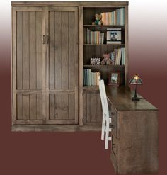 Horizontal Murphy Bed with Desk - Guest Bedroom | Stuart David Furniture