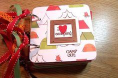 I Love Camping Mini Chipboard Album
