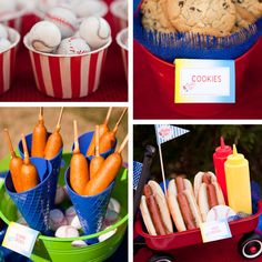 Bomb Pop has great ideas for my Little Leaguer's team parties. Invites, recipes, decor & more. Check it out! http://bombpopparties.com/party-ideas