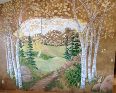 A fun story about a Colorado Scenery Mural painted by Mickey Baxter-Spade.