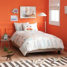 love the bright wall color!