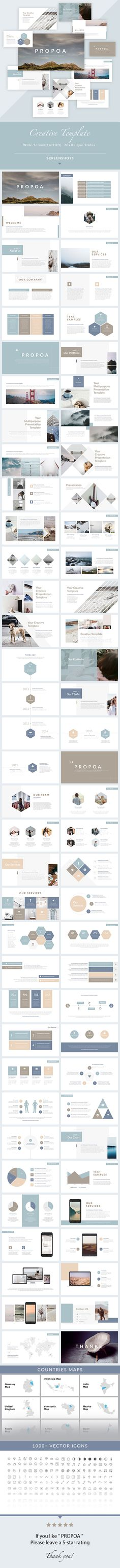 Propoa - Keynote Presentation Template - Creative Keynote Templates