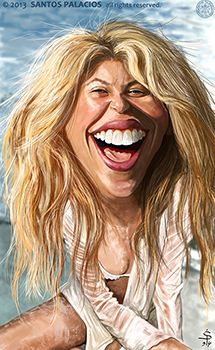 Shakira-Caricaturas-Caricatures - Santos Palacios