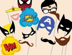 superhero photobooth props superhero baby shower theme ideas #babyshower #superhero #babyshowerideas4u.com