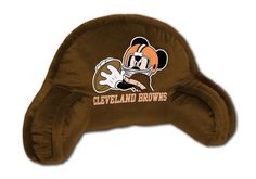 NFL Cleveland Mickey Mouse Bed Rest Pillow