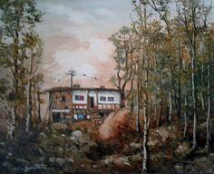 Near the forest  Oilpaintingoncanvas  Painter.Selim Güventürk  40x50 cms.dim. Ankara