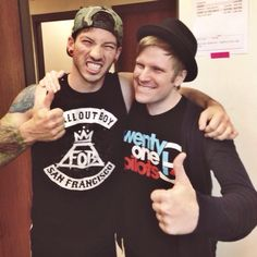 Josh Dunn and Patrick Stump - this picture makes me very happy