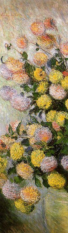 Vase of Dahlias - Monet Claude
