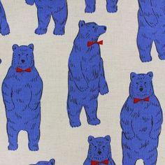 Tréfle - Polar Bears (Blue) | Cotton Linen Blend