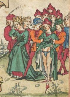 Ms. germ. qu. 12 - Die sieben weisen Meister Schreiber Hans Erschienen Frankfurt, 1471 Folio 97r