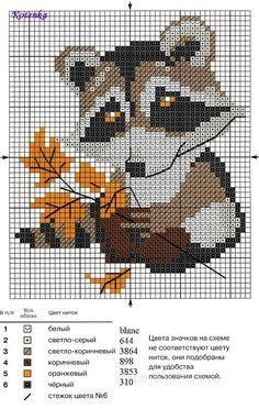 fox chart - Cross stitch Picture