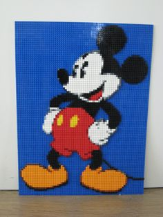 Let's celebrate by featuring a few of the many LEGO rendition of everyone's favorite mouse. Lego Disney, Lego Mickey Mouse, Mickey Mouse And Friends, Disney Diy, Lego 3d, Lego Duplo, Lego Design, Disney Quilt, Lego Activities