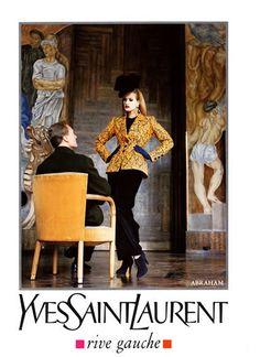 1991-92 - Saint Laurent Rive Gauche adv - Karen Mulder by Helmut Newton